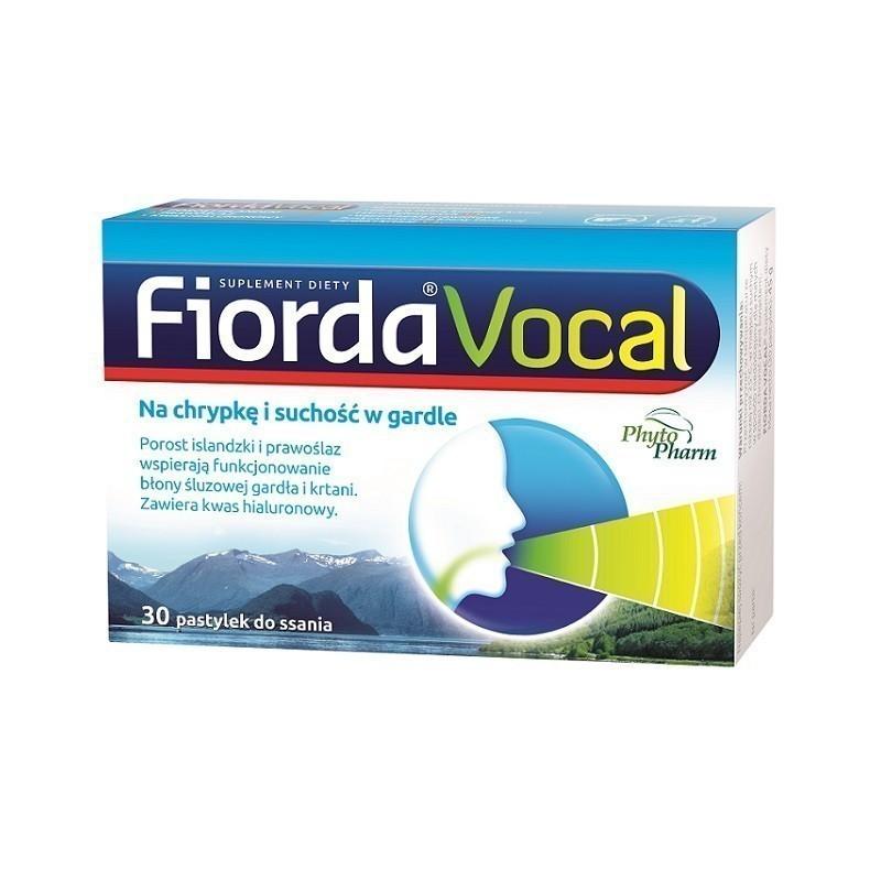 Fiorda Vocal Pastylki do ssania 30 szt.