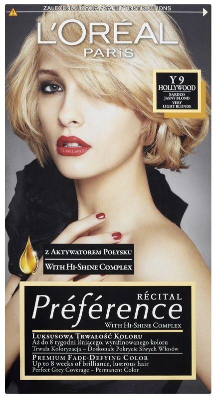 L'Oréal Preference Y 9 Hollywood