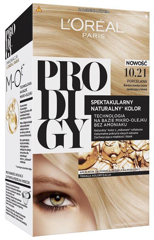 L'Oréal Prodigy 10.21 Porcelain Bardzo Bardzo Jasny Blond