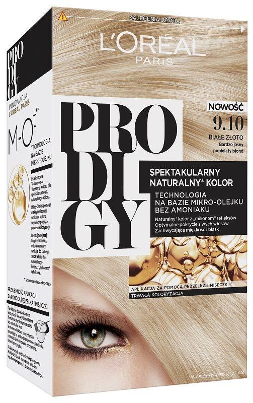 L'Oréal Prodigy 9.10 White Gold Bardzo Jasny Popielaty Blond