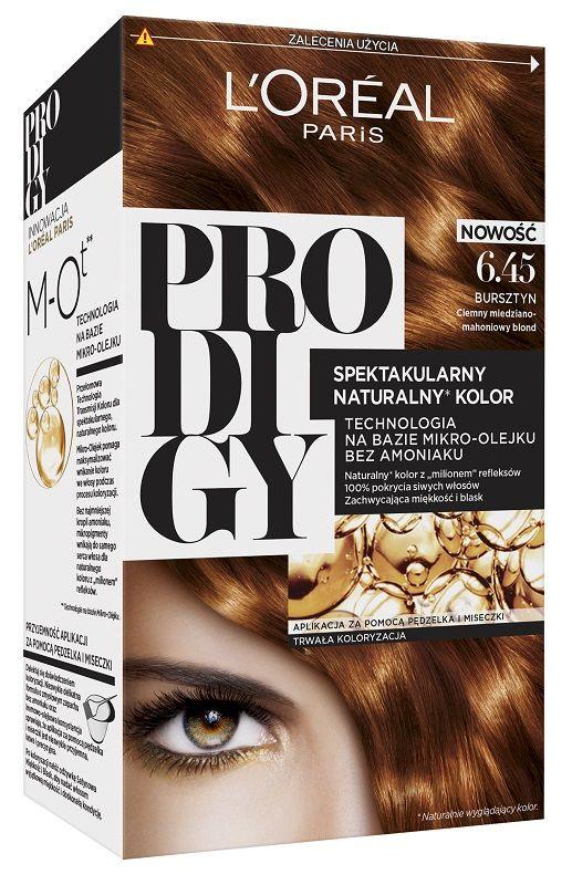 L'Oréal Prodigy 6.45 Amber Bardzo Jasny Miedziano-Mahoniowy Brąz
