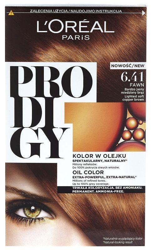 L'Oréal Prodigy 6.41 Fawn Bardzo Jasny Miedziany Brąz