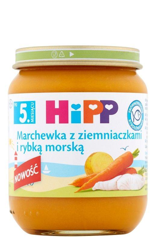 Hipp Marchewka z Ziemniaczkami i Rybką Morską