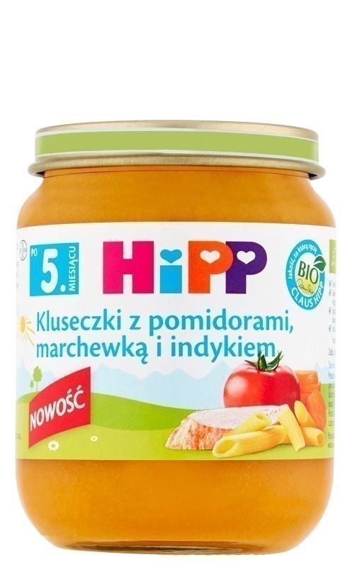 Hipp Kluseczki z Pomidorami, Marchewką i Indykiem Bio