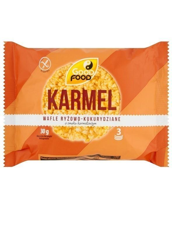 Good Food Wafle Grube Karmelowe