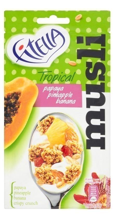 Fitella Musli Tropikalne z Papają, Ananasem i Bananem