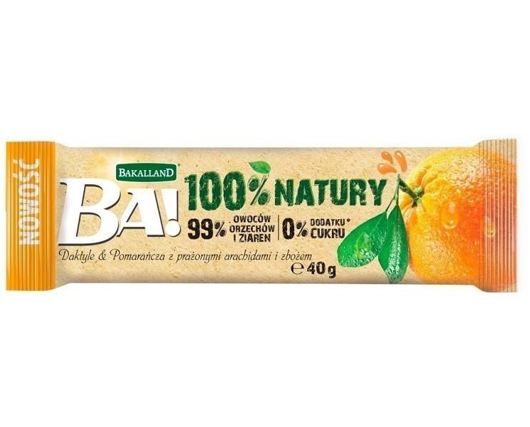 Bakalland BA! Daktyle&Pomarańcza z Prażonymi Arachidami i Zbożem