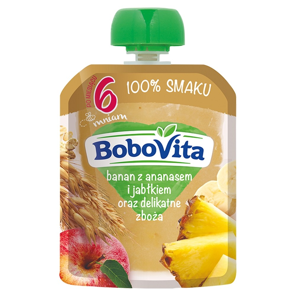 Bobovita Banan z Ananasem i Jabłkiem Oraz Delikatne Zboża