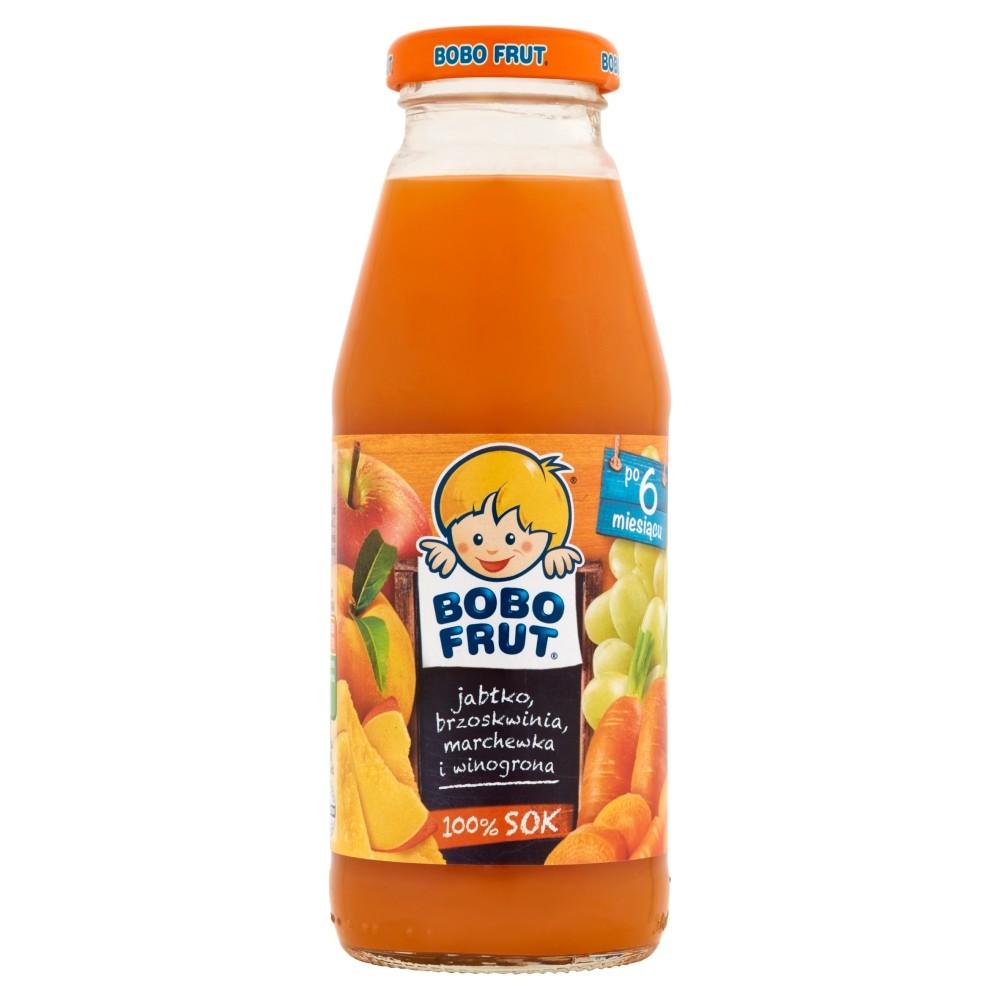 Bobo Frut Jabłko-Brzoskwinia-Marchewka-Winogrona