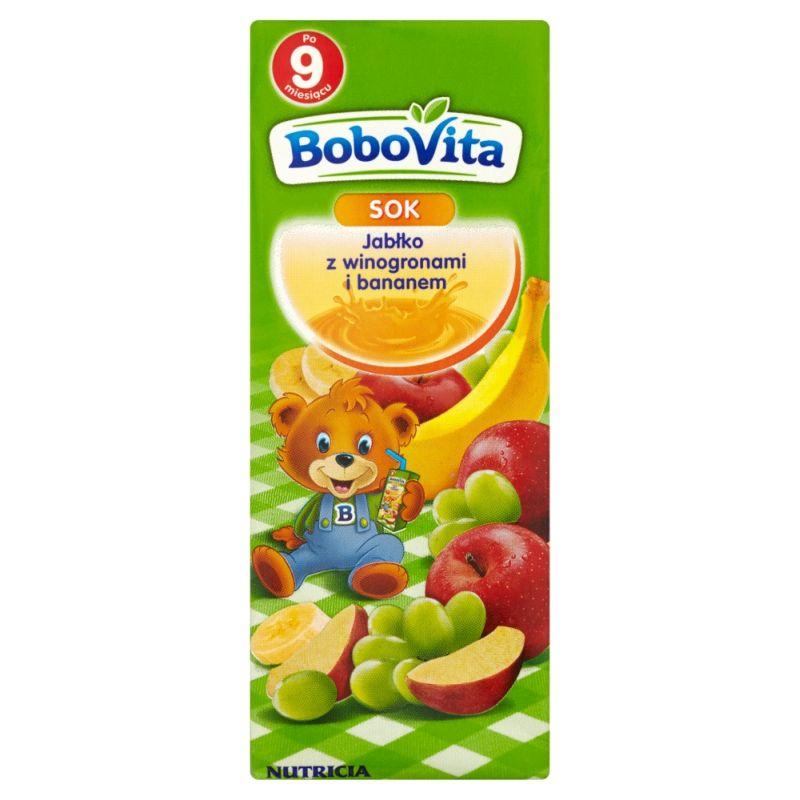Bobovita Jabłko z Winogronami i Bananem