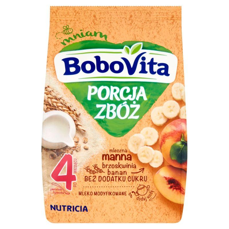 Bobovita Porcja Zbóż Mleczna Manna Brzoskwinia, Banan