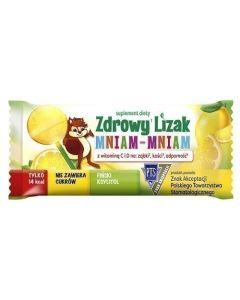 Zdrowy Lizak Mniam-Mniam Smak Cytrynowy 1 Sztuka