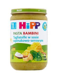 HiPP Tagliatelle w Sosie Szpinakowo-Serowym Bio