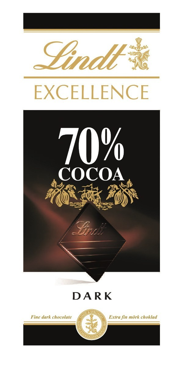 Lindt Excellence Dark 70% Cacao XMASS