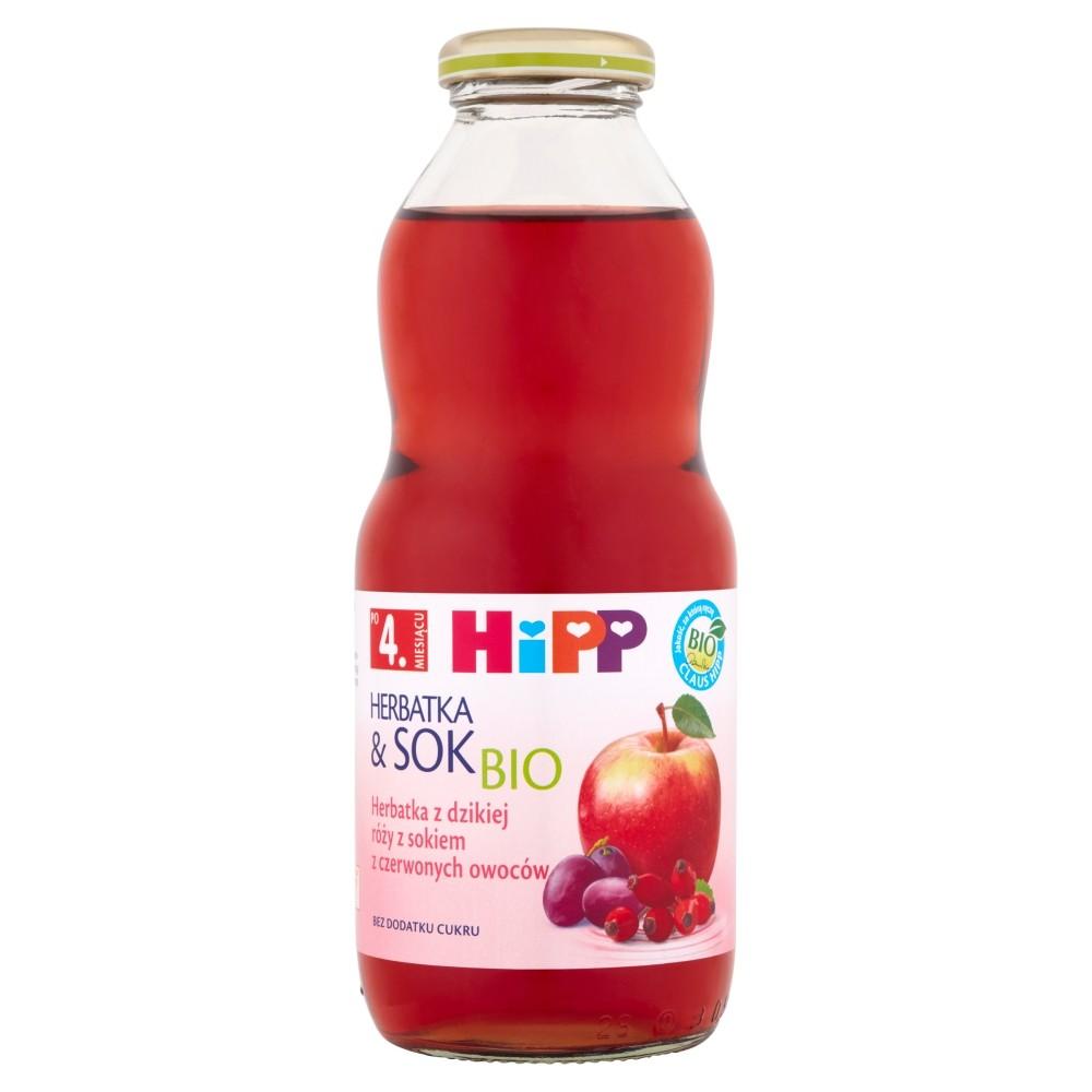 Hipp Herbatka Dzika Róża z Sokiem z Czerwonych Owoców