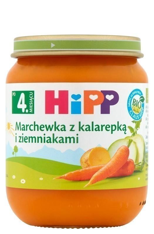 Hipp Marchew z Kalarepką i Ziemniakami - Bio