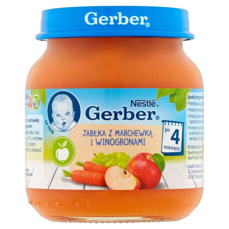 Gerber Jabłka z Marchewką i Winogronami