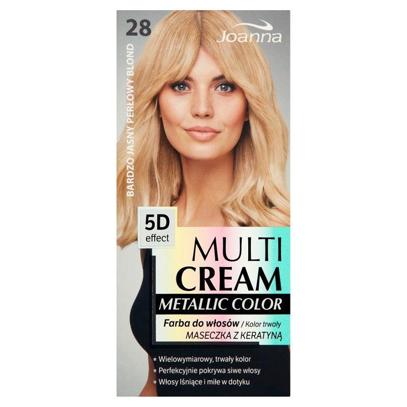 Joanna Multi Cream Color Metalic 28  Bardzo jasny perłowy blond