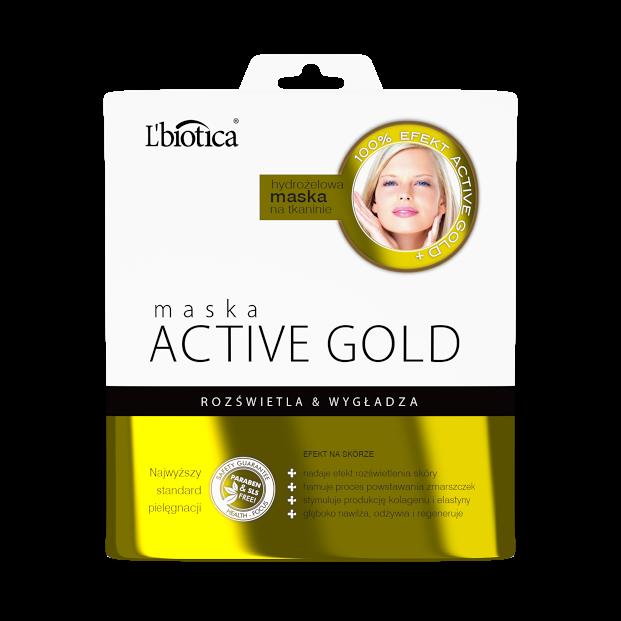 L'biotica Maska Hydrożelowa Active Gold