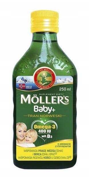 Mollers Baby+ Tran Norweski Cytrynowy