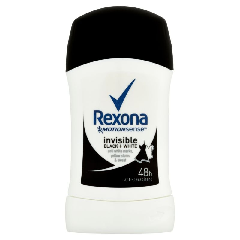 Rexona MotionSense Invisible Black+White