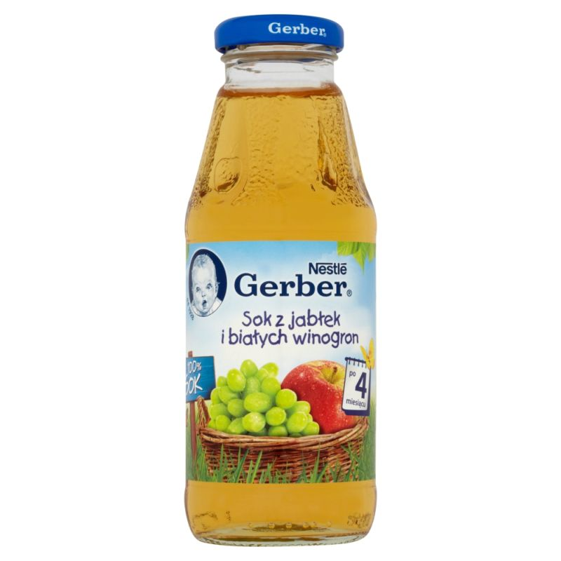 Gerber z Jabłek i Białych Winogron