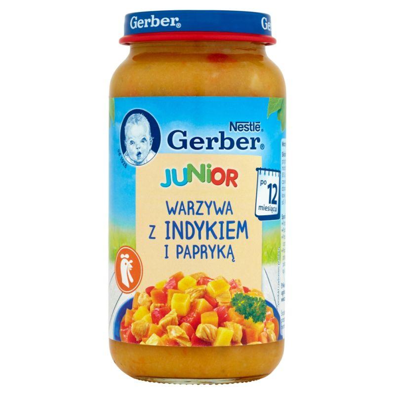Gerber Junior Warzywa z Indykiem i Papryką